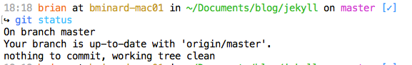 Clean status in submodule repository.